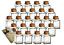 24er Set Gewürzglas Gewürzgläser Quadratische Glasbehälter Füllmenge 120 ml NEU