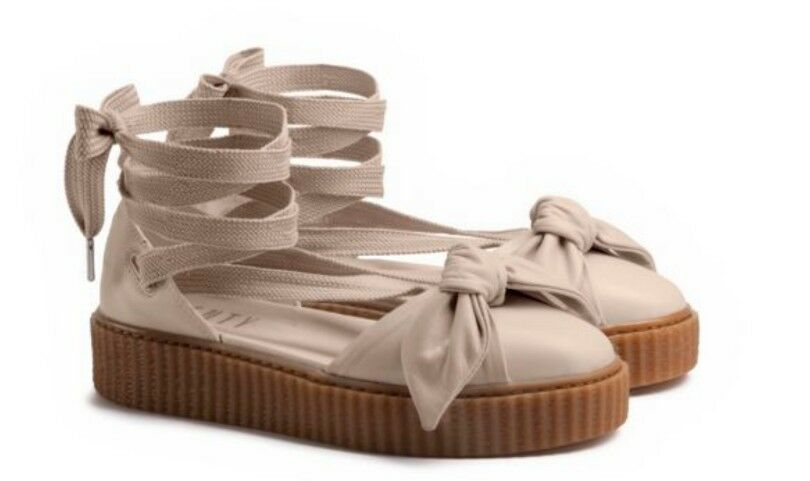 140 Fenty Puma By Rihanna Women Bow Creeper Sandal Pink (365794-02) Sz 8.5