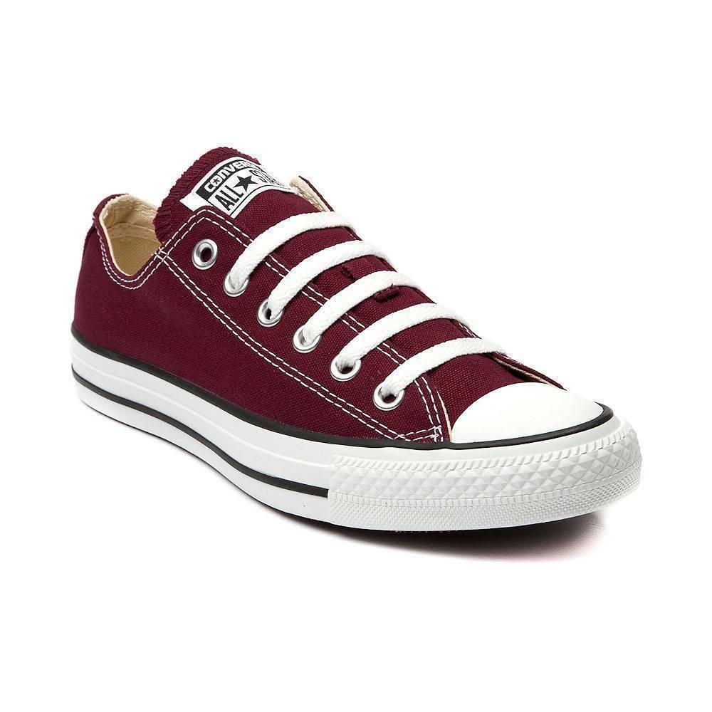 NEW CONVERSE ALL STAR Classic LO Top MAROON Canvas Chuck Taylor Womens