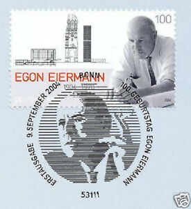Expressif Rfa 2004: Egon Eiermann Nº 2421 Avec Propre Bonner Ersttags Cachet! 1a! 1511-l! 1a! 1903fr-fr Afficher Le Titre D'origine