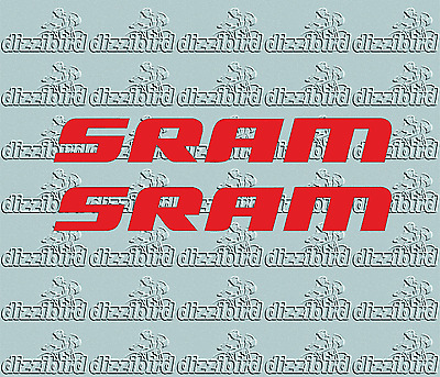 SMALL SRAM STICKERS/TRANSFERS RED X2