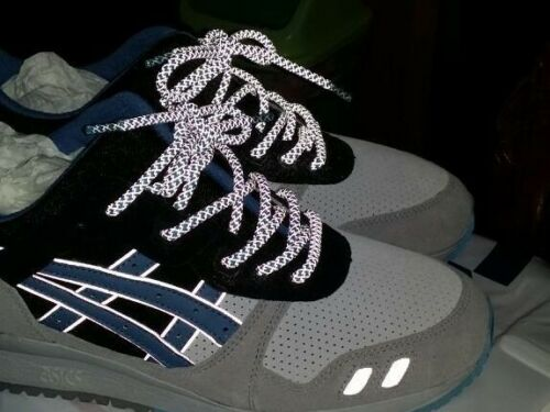 """48/"""" 3m Rope reflective shoe laces fit for Asics GEL Air Max EQT Kith Yeezy Cyan"""