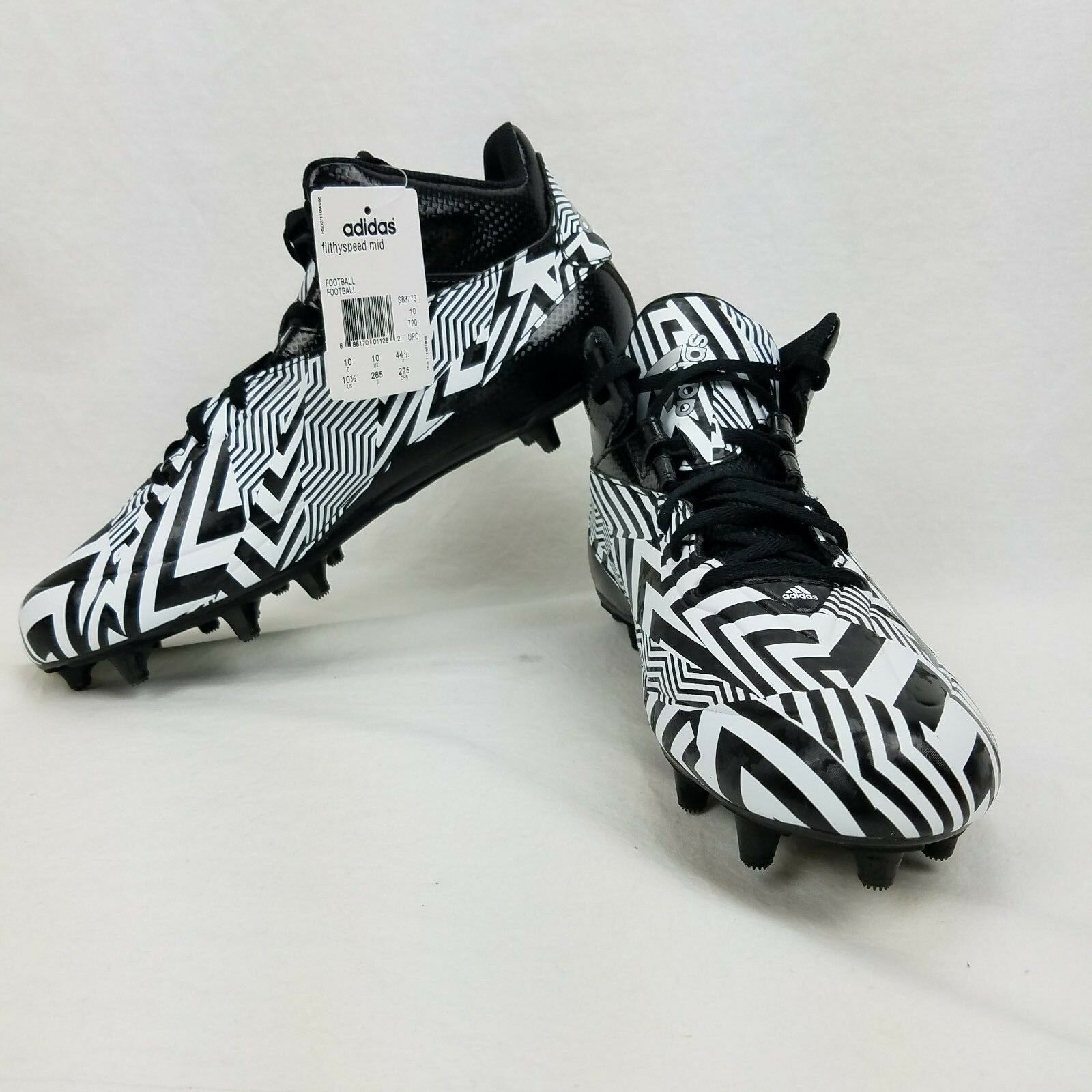 Adidas filthyspeed mid Black/Platinum Cleats Mens New Athletic Shoes Size 10.5 New Mens 4bfdb6