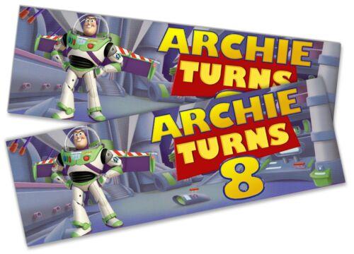 X2 Personnalisé Anniversaire Bannière Toy Story Design Enfants Kid Party Décoration 4