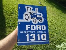 Ford 1310 Tractor Owners Amp Maintenance Manual