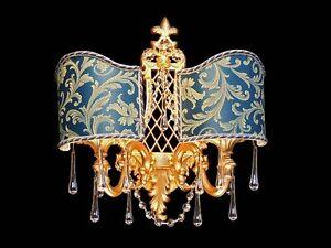 Applique in ottone oro classico a luci bga ag design
