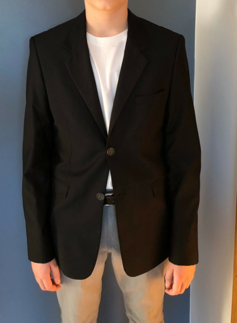 Blazer, Costbart, str. L, Super smart og flot sort blazer…