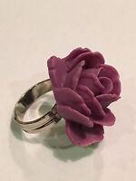 Tarina Tarantino Flower Picker Purple Rose Adjustable Ring