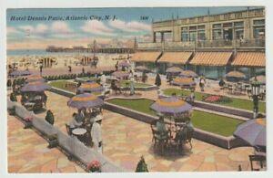 1958-Postmarked-Postcard-Hotel-Dennis-Patio-Atlantic-City-New-Jersey-NJ