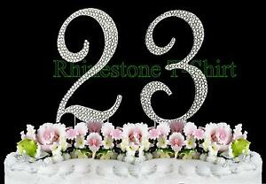 Large rhinestone number 23 cake topper 23th birthday wedding party image is loading large rhinestone number 23 cake topper 23th birthday thecheapjerseys Images