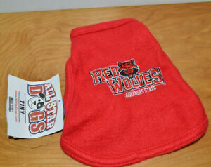 Tiny All Star Dogs NCAA Arkansas State Red Wolves Polar Fleece Hooded Dog Jacket