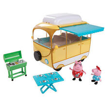 Peppa & Daddy Pig Family Camper Van Awning Picnic Grill Toy Figuerine Playset