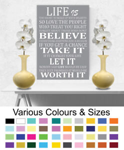 Motivational-Picture-Life-Is-Too-Short-Wall-Art-Canvas-Poster-Print-A1-A2-A3-A4