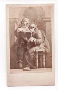 Vintage-CDV-Religious-Painting-Saints-after-Renaissance-painting