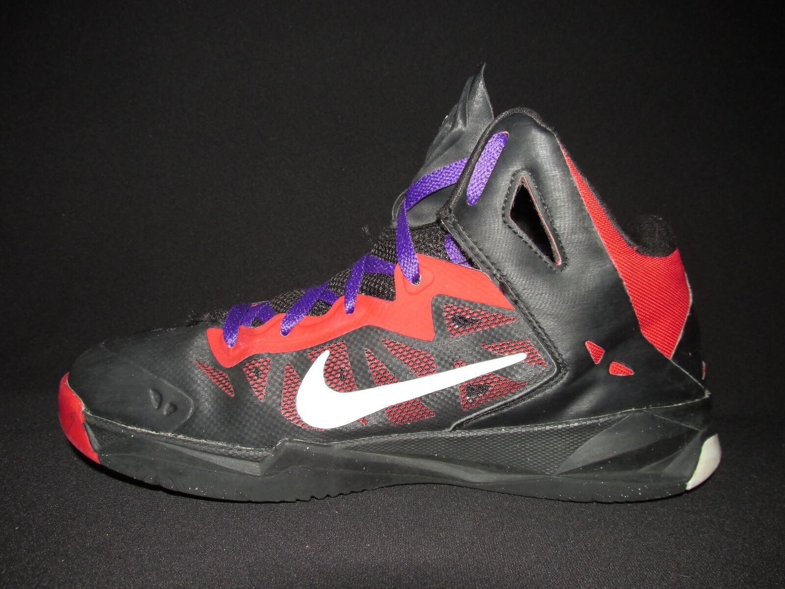 The latest discount shoes for men and women Nike Zoom Hyper Chaos Black Red 536841-001 Basketball Shoes  Men's US 7.5M