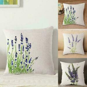 Lavender-Linen-Cotton-Theme-Pillow-Case-Cover-Home-Sofa-Waist-Cushion-Cover-I2H6