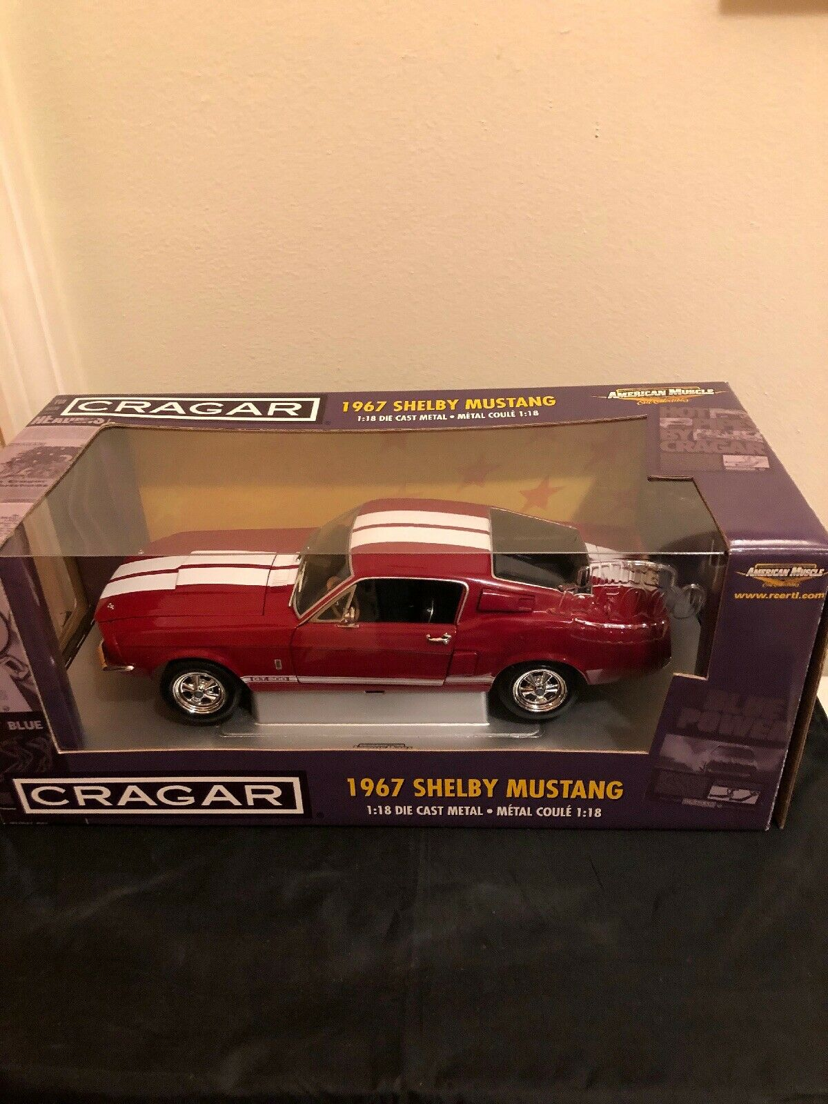 1967 Shelby Mustang GT500 rosso CRAGER Edition 1 18 Ertl American Muscle 33713