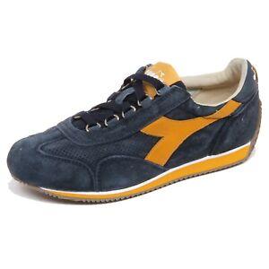 Dettagli su F7728 sneaker donna bluyellow DIADORA HERITAGE EQUIPE stone washed shoe woman