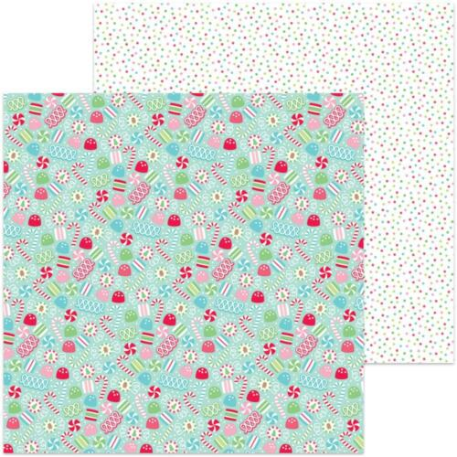 "12x12/"" D//cara de papel Scrapbooking Doodlebug-Leche /& Galletas-Caramelo Navidad"