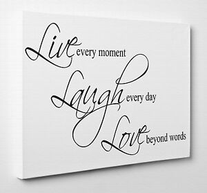 Image Is Loading X Large Live Laugh Love Canvas Print Wall