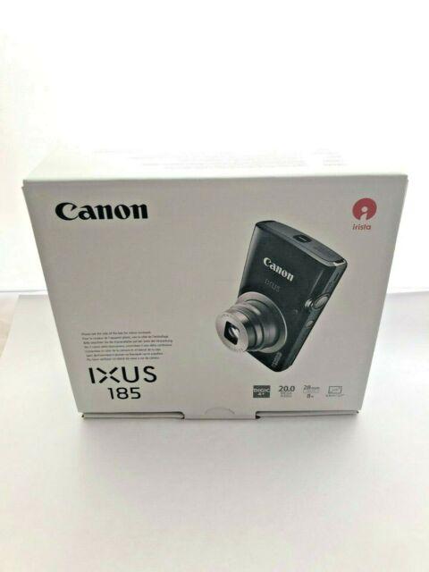 Canon IXUS 185 Digitalkamera, 20 MP, 8x optischer Zoom, 2,7 Zoll Display, Black