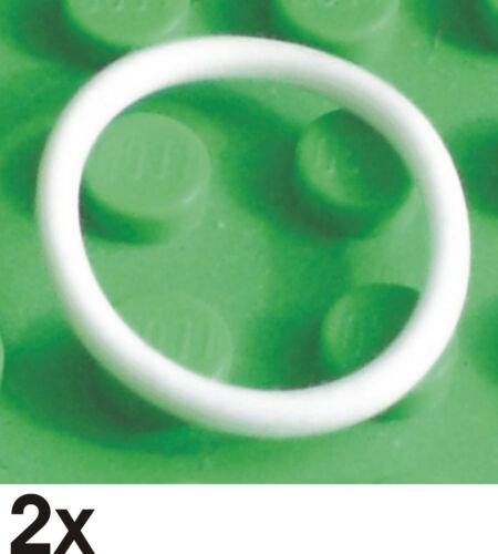 234 x71 2 St NEUE Gummiringe  2x2  weiss