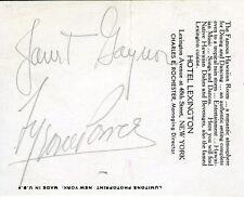 TYRONE POWER Vintage Original Photo HONEYMOON GENE KORNMAN OVERSIZED & Autograph