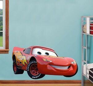 Disney cars wall sticker decal mural art bedroom boys gift for Cars wall mural sticker