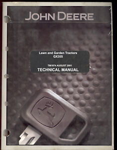 john deere gx355 lawn garden tractor technical manual ebay rh ebay co uk john deere gx355 parts manual john deere gx355 service manual