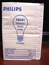 Lot of 2 Extended Service Bulb FG 3066-H1-200W 130V Frosted Lamp GE