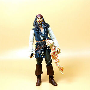 Disney-Pirates-of-the-Caribbean-JACK-SPARROW-ation-figure-6-034-old-nose-lost-color