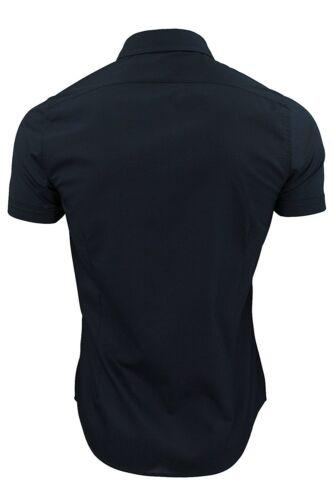 NUOVA linea uomo Brave Soul Maniche Corte cucitura dettagliata Formale Camicia in cotone in Taglia S XL