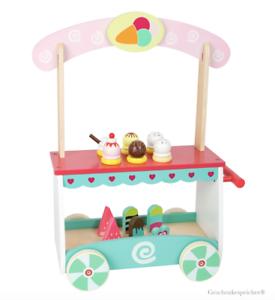 Details zu Eiswagen Einkaufsladen Holz Bunt Kinderzimmer Spielzeug  19-teilig ab 3 Jahre