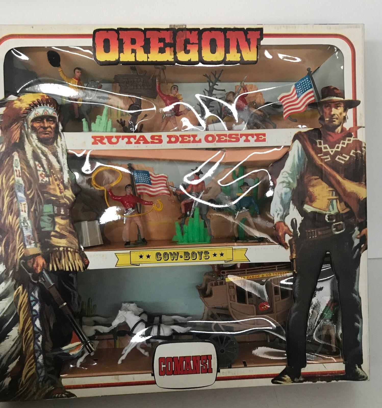 Box Comansi 3 levels FARWEST Oregon Rutas DEL OESTE Cowboys 1 32eme