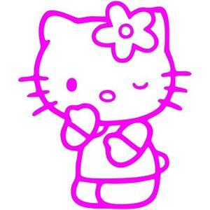 Sticker-Autocollant-Hello-Kitty-Couleur-au-choix-h01