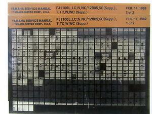 yamaha fj1100 fj1200 1984 1985 1986 1987 1989 service manual rh ebay com 91 FJ1200 1987 Yamaha Venture