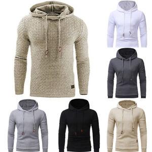 Men-039-s-Jacket-Outwear-Jumper-Hoodies-Coat-Sweater-Hooded-Pullover-Sweatshirt-Fit