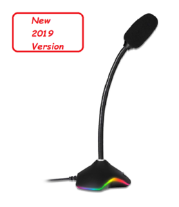 New 2019 Ideal for Voice Recording Speech Recognition Streaming KLIM/™ Rhapsody Best Sound Quality Compatible Windows Mac PS4 Mic Gaming USB RGB Desktop Microphone YouTube Podcast
