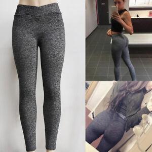 Femmes-haute-yoga-sport-gym-pantalons-sexy-froisser-elastique-push-up-leggings