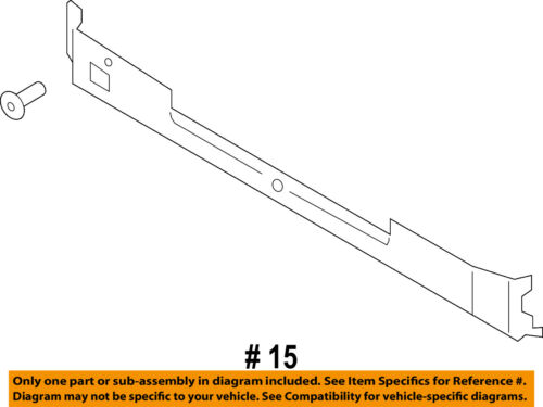 FORD OEM 17-18 F-250 Super Duty Radiator Core Support-Lower Deflector HC3Z8310D