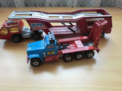 100% Wahr 2x Sammler Matchbox Autos Auto Transporter 1976 Zement-mixer 1970