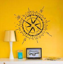 Compass Wall Decal Rose Marine Vinyl Sticker Nautical Art Decor Navigate Ocean