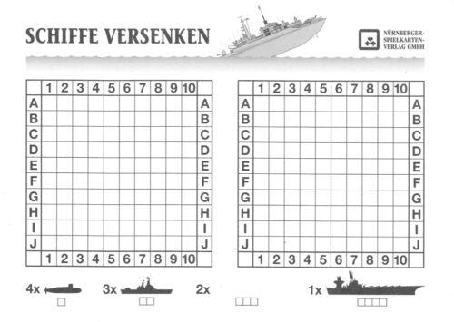 Spielblock Schiffe versenken oder Stadt-Land-Fluß