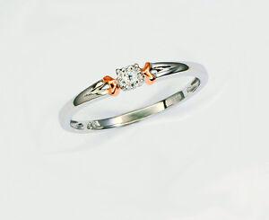 Echtschmuck-Brillant-Ring-weisse-Diamanten-14-Karat-585-Weissgold-Neu