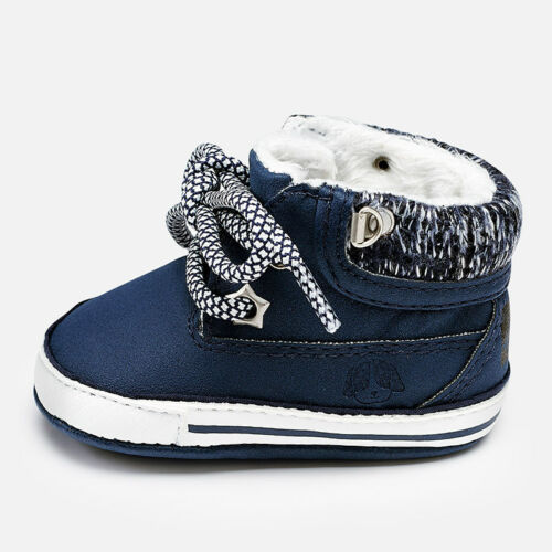 Designer MAYORAL Baby Boys Pre Walking Shoes Fur Lined WAS £18.00 NOW £9.99 SALE