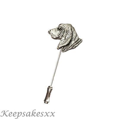 Palo Pin de Solapa Sombrero De Basset Hound Dog Corbata Pin En Inglés Peltre Diseño único de Reino Unido