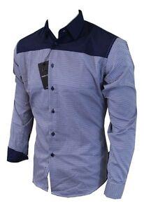 Dominic-Stefano-263-Smart-Camisa-para-hombres-informal-a-cuadros-pequena-XXXL-RRP-29-99
