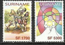 Rep. Suriname - 2 Kinder/Kerstzegels 2003 postfris