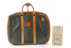 【Rank A】 Authentic Hunting World Nylon Business Bag Green From JAPAN A437