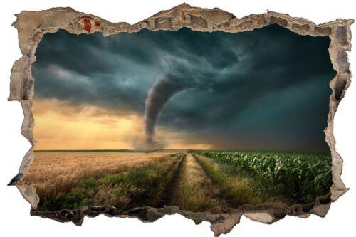Tornado Sturm Himmel Unwetter Wandtattoo Wandsticker Wandaufkleber D1342